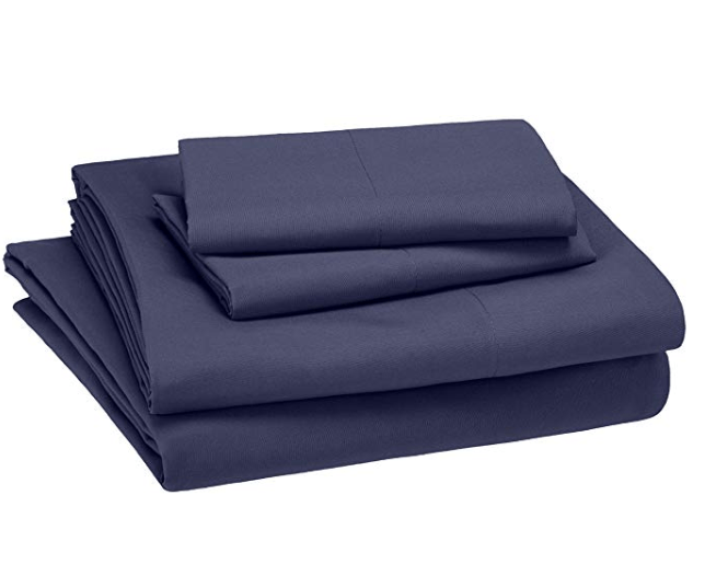 Amazon: AmazonBasics Kid's Sheet Set – Soft, Easy-Wash Microfiber – Queen, Twilight Blue – $9.99
