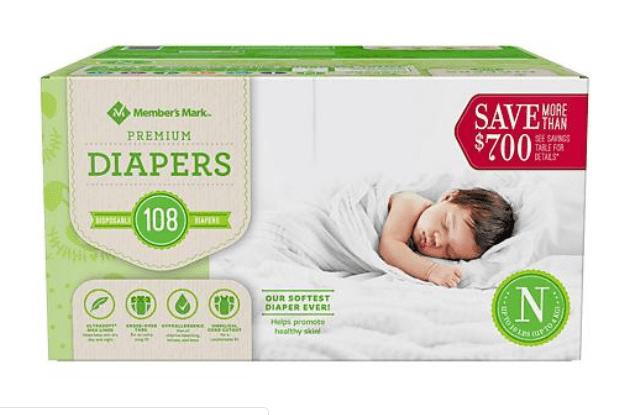 Sam's Club: Member's Mark Premium Baby Diaper – $6.98