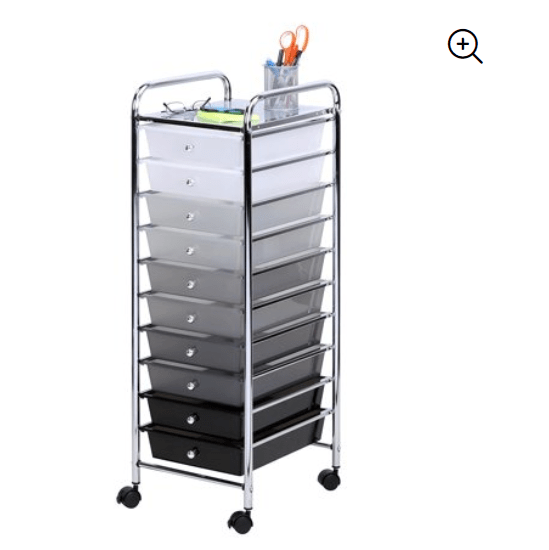 Walmart: Honey Can Do Rolling Storage Cart with 10 Shaded Drawers – $20.67