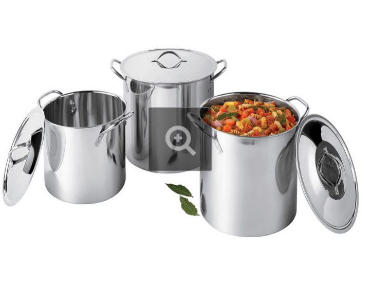 JCPENNEY: Cooks Stainless Steel 3 Pack Stockpot – $16.49