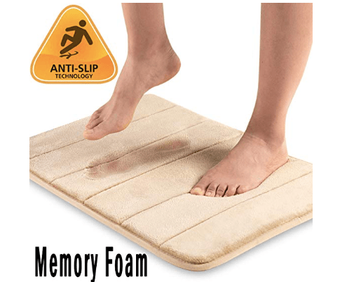 Amazon:Quilted Flannel Memory Foam Bath Mat – $4.95