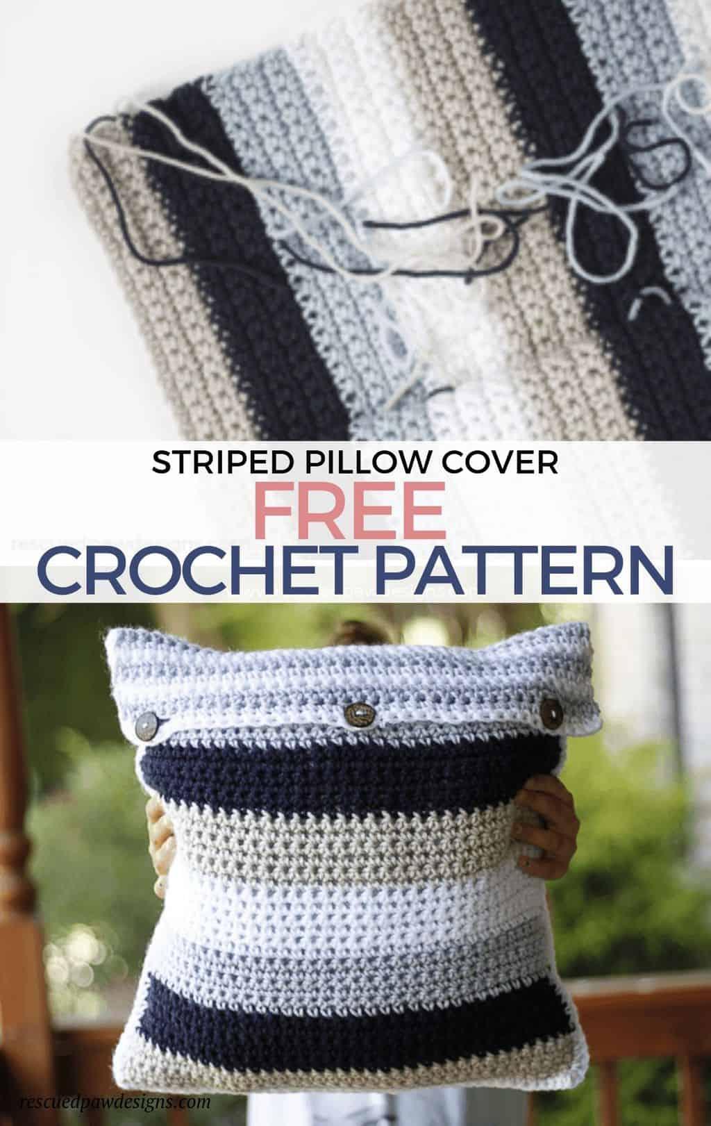 free crochet throw pillow pattern