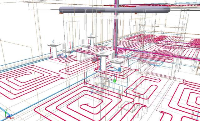 Detalle 3D cálculo de instalaciones