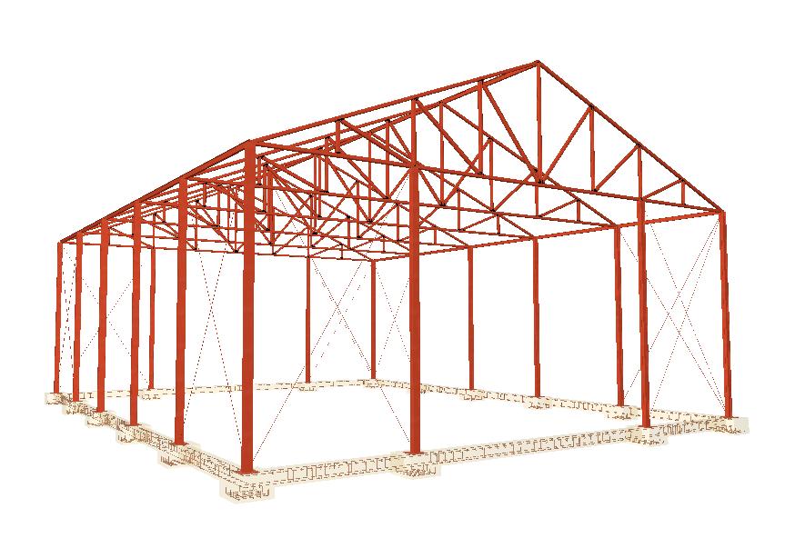 C mo calcular nave industrial o galp n con cype3d easycte for Galpon de madera para jardin