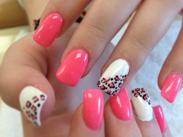Pretty Pink Nail Design With Black Polish Swirl Designs 2 And Art