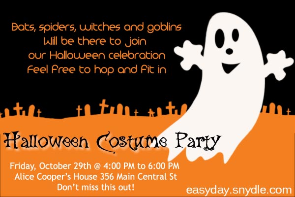 I was wondering what i should make the spear out of and how i sh. Halloween Party Invitation Wording Easyday