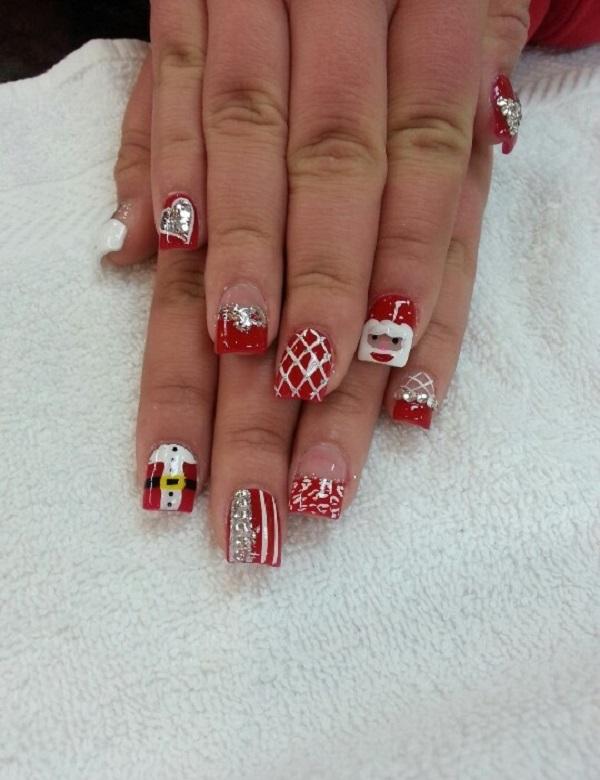 Cute Acrylic Nails For Christmas