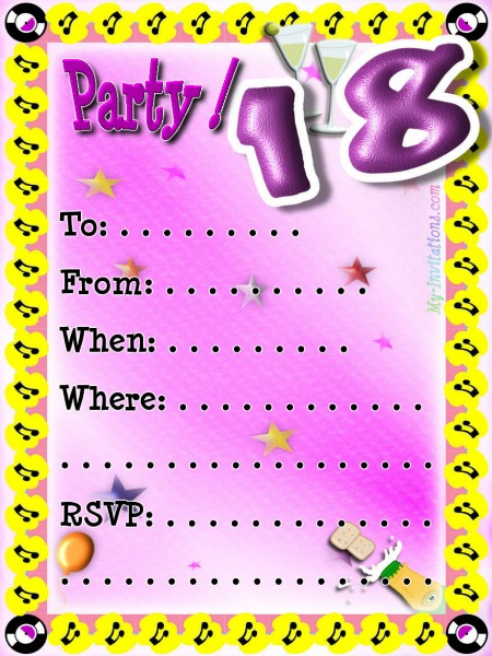 Birthday Invitations Maker Free