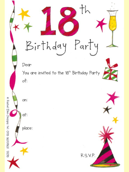 18th birthday invitation maker and how