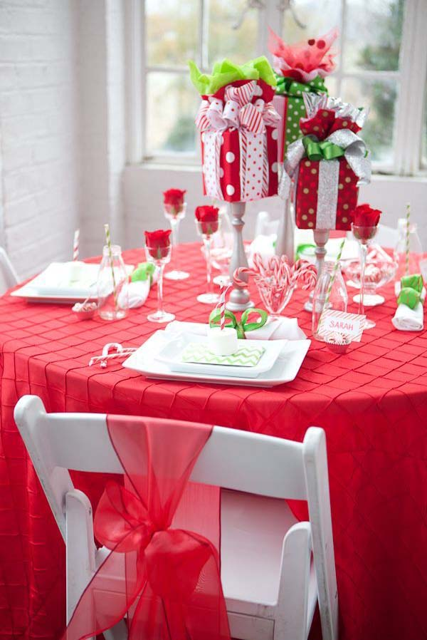 how to decorate a table for christmas l