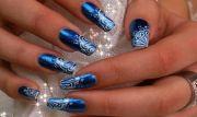 top blue nail art design suit