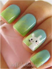 insanely cute easter nail design