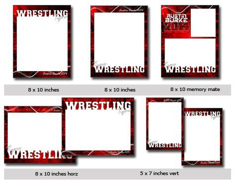 Action Sports Wrestling CUTOUT Vol 20 Template Photoshop Amp Elements