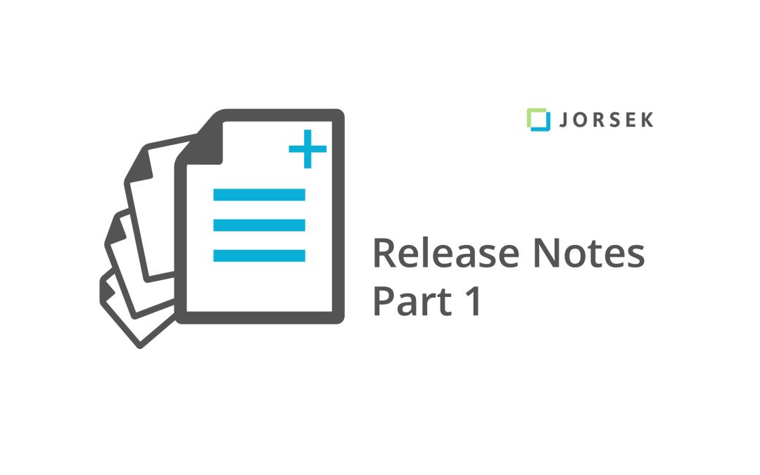 Webinar: Release Notes Part 1