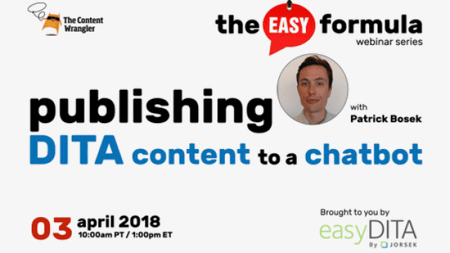Webinar Publishing DITA Content to a Chatbot