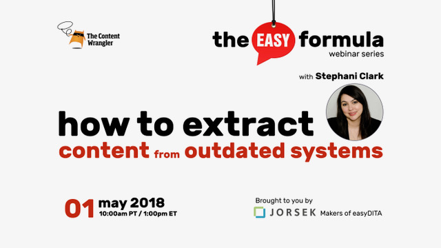 Webinar: How to Extract Content from Outdated Systems