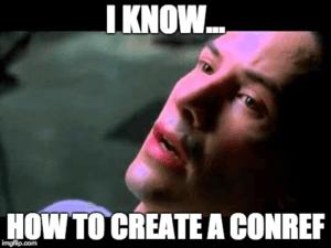 Nemo: I know how to create a conref.