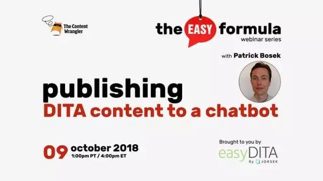 Webinar: Publishing DITA Content to a Chatbot