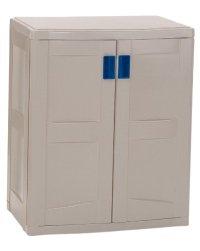 SUNCAST Indoor/Outdoor Storage Cabinets  Beige | Easy DIY ...