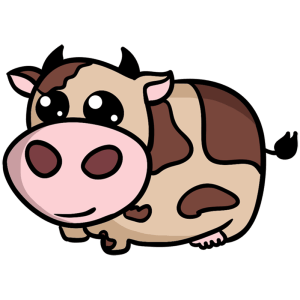 cow draw easy simple step drawing steps drawings everything beginners cows cartoon learn animal standing