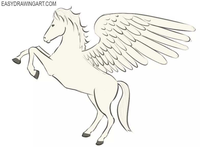 How To Draw Pegasus Easy Drawing Art