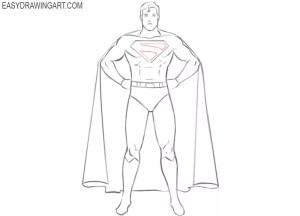 superhero draw easy drawings drawing step easydrawingart