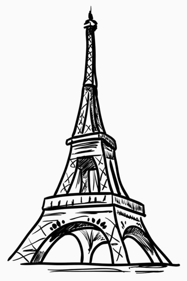Simple Eiffel Tower Drawing : simple, eiffel, tower, drawing, Learn, Eiffel, Tower, Drawing, Sketch, Steps.