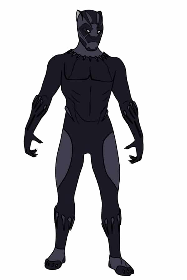Cartoon Black Panther Drawing : cartoon, black, panther, drawing, Step-by-Step, Guide, Black, Panther, Drawing, Minutes.