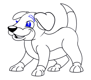 dog draw drawing cartoon easy dogs puppy step cartoons scary clipart line simple guides nose getdrawings clip transparent clipartmag easydrawingguides
