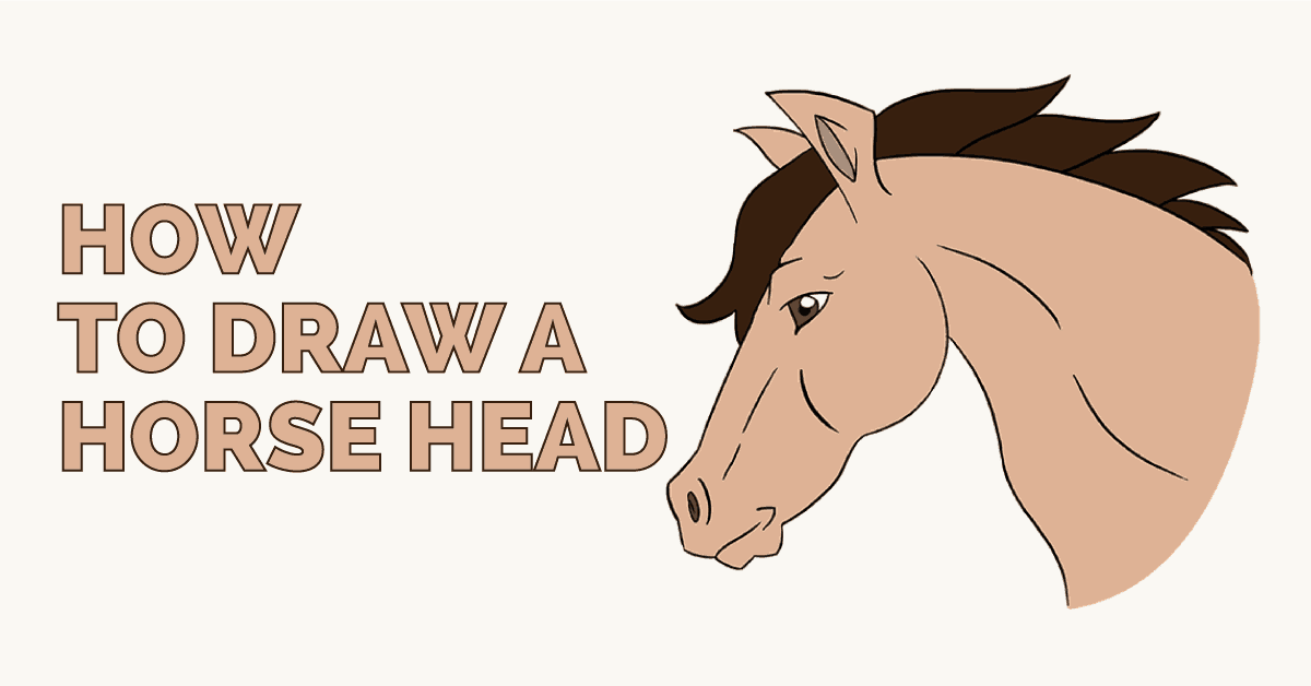 How To Draw A Horse S Head Easy Drawing Guides