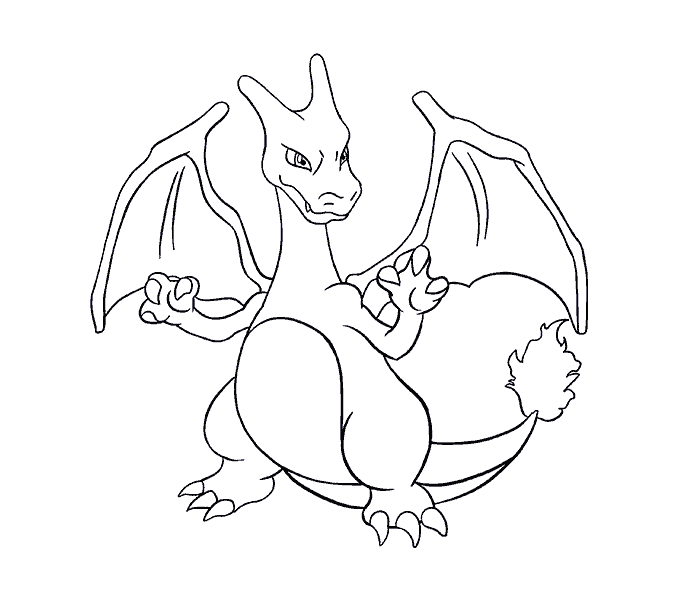 Mega Charizard Y Opening Mouth Pages Coloring Pages