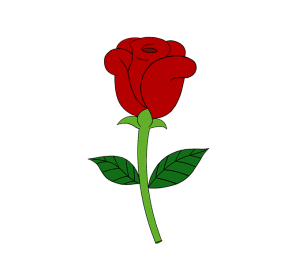 rose cartoon drawing simple draw roses easy flowers flower bouquet guides stem sketch leaves crayons colored clipartmag together clipartix pencils