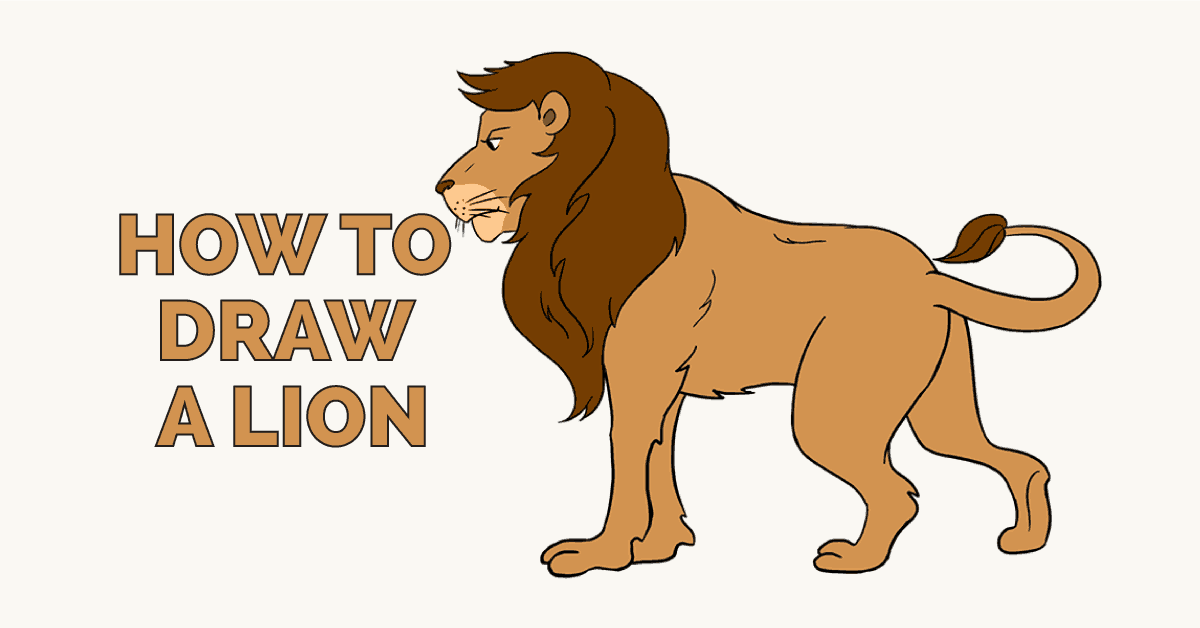 How To Draw A Lion In A Few Easy Steps Easy Drawing Guides