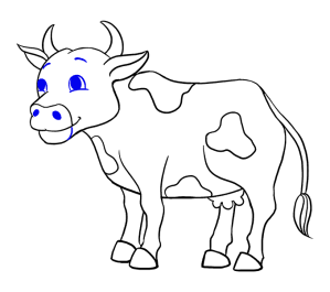 cow cartoon draw drawing sketch realistic ox step easy clipart sketches pencil transparent steps few colorful paintingvalley webstockreview webcomicms explore