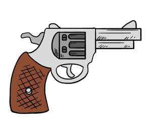 cartoon revolver gun draw step drawing drawn clipart easy pistol transparent clipartmag pluspng