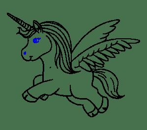 unicorn draw drawing step easy steps
