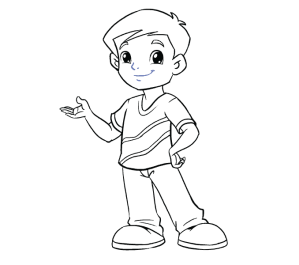 boy draw drawing outline realistic step easy steps cartoon drawings line few leg lines straight easydrawingguides