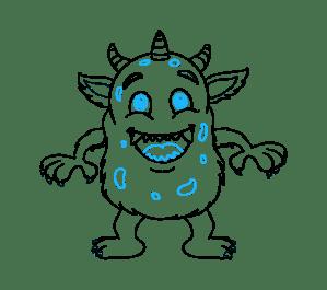 monster cartoon draw drawing easy drawings simple step steps getdrawings expressions paintingvalley