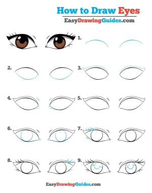 eyes draw drawing tutorial easy steps