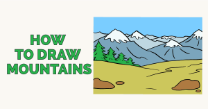 mountain draw mountains drawing simple landforms easy slope drawings landscape tutorial really paintingvalley