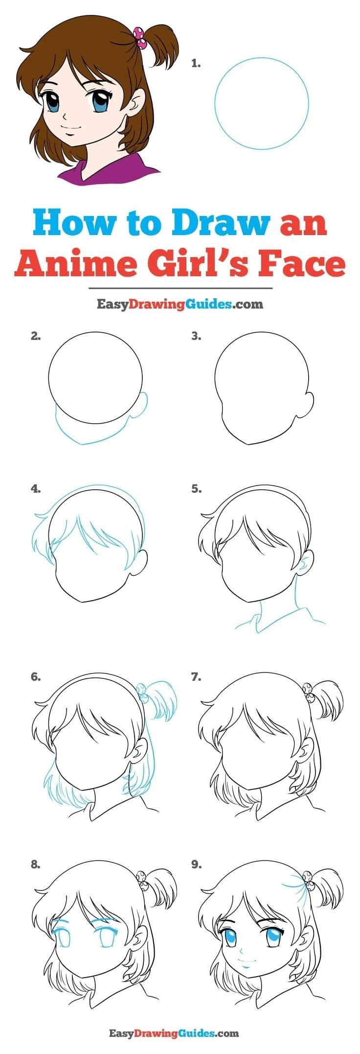 Step By Step Anime Girl : anime, Anime, Really, Drawing, Tutorial