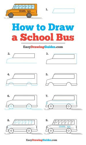 bus draw step drawing easy tutorial drawings easydrawingguides tutorials steps unique printable complete