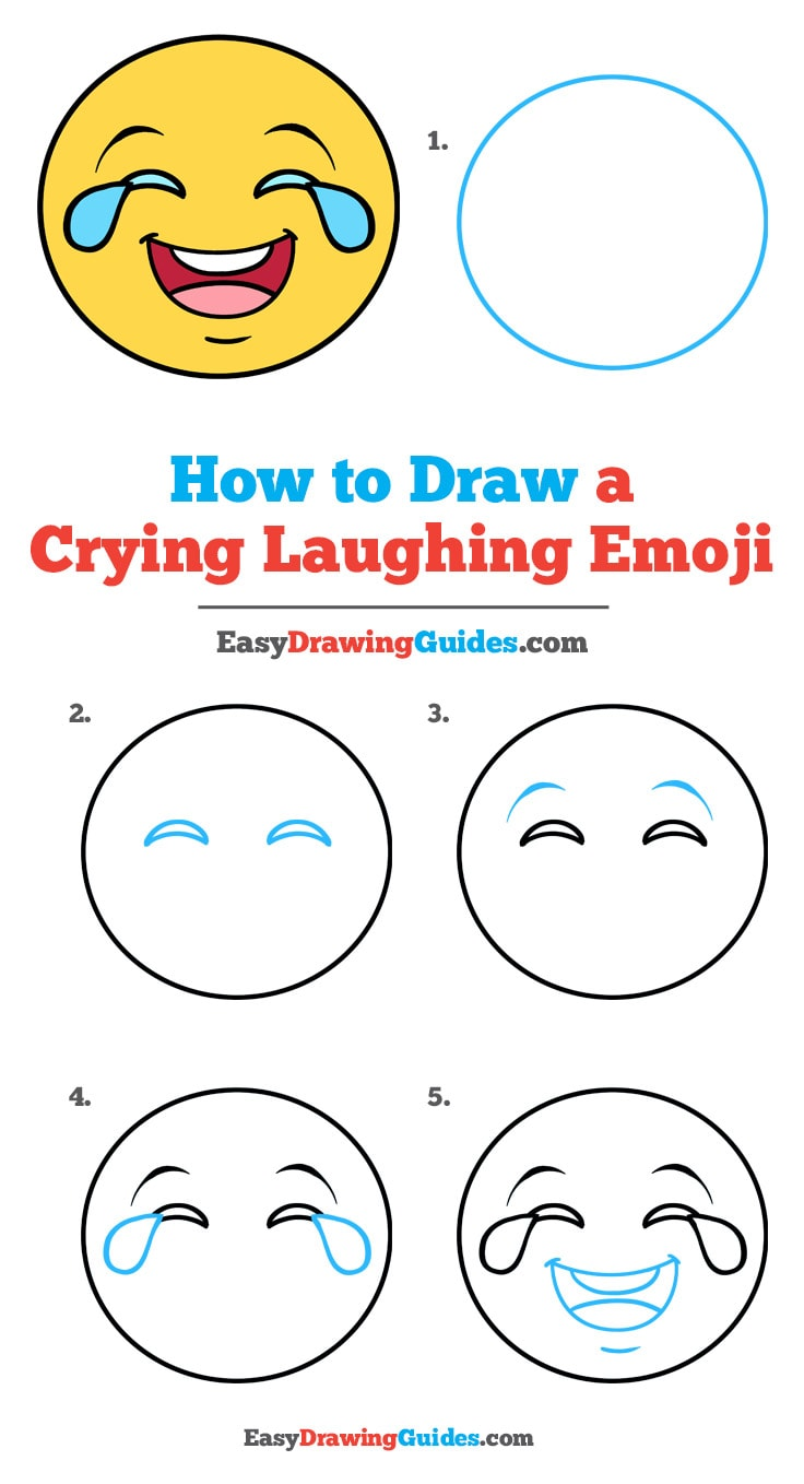 Laughing Emoticon Text : laughing, emoticon, Crying, Laughing, Emoji, Really, Drawing, Tutorial
