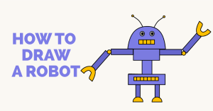 robot draw easy drawing cartoon guides drawings paintingvalley