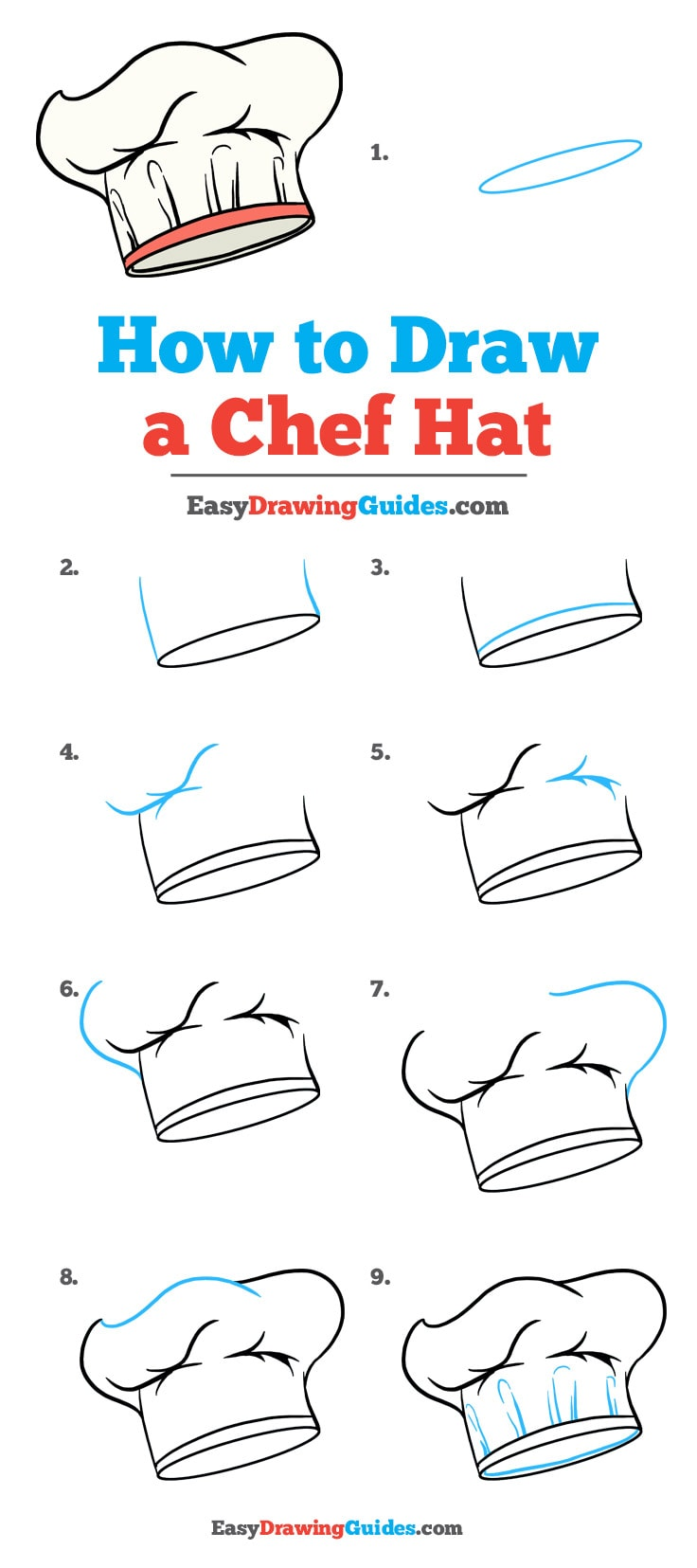 Chef Hat Pattern : pattern, Really, Drawing, Tutorial