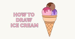 ice cream draw drawing easy tutorial