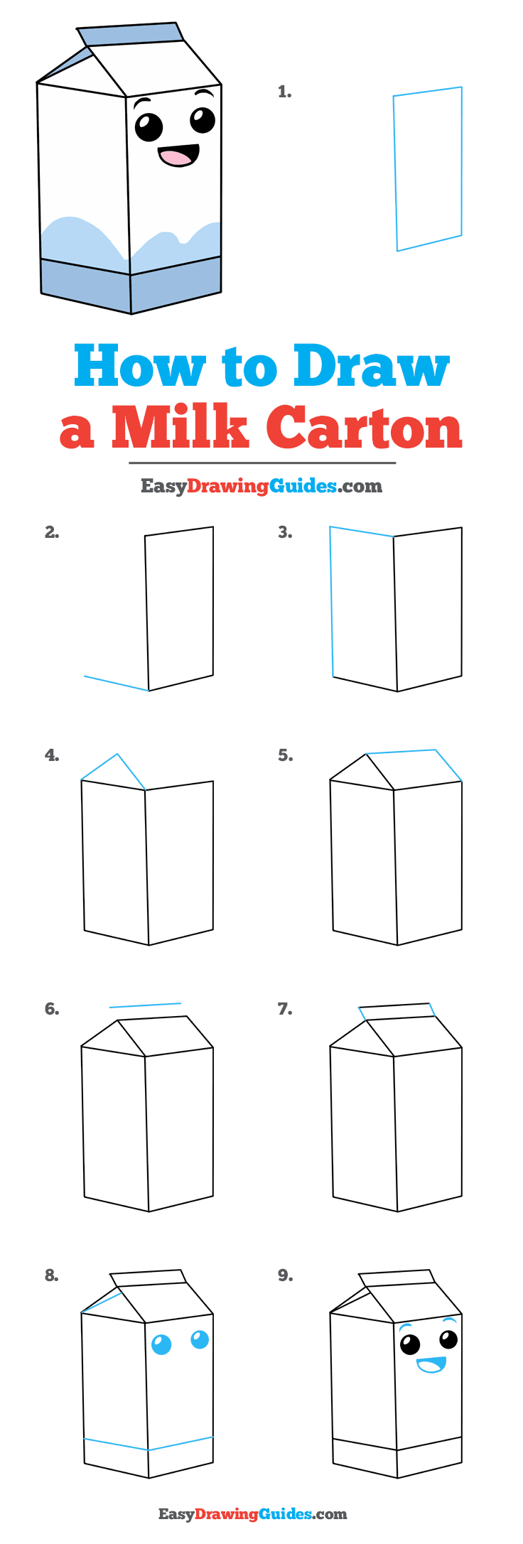How To Draw A Juice Box : juice, Carton, Really, Drawing, Tutorial