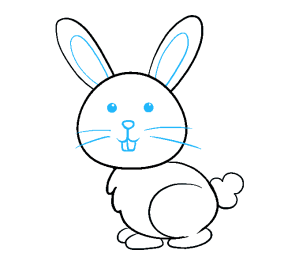 bunny draw easy drawing rabbit face nose sketch step drawings tutorial really tail clipartmag skull steps paintingvalley ear scary double