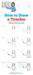 How to Draw a Teacher Really Easy Drawing Tutorial