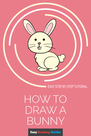 bunny draw drawing easy rabbit tutorial drawings really steps guides save paintingvalley few